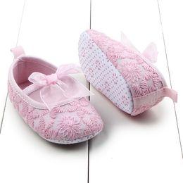 Wholesale Hot Babys - Wholesale- Newborn Babys Infants Girls Shallow Toddler Soft Sole Crib Shoes Prewalkers 0-12M Hot
