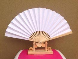 Argentina Buena calidad Nueva mano de madera Fans Portable Lady Wedding Handmade Folding Fans Barato al por mayor 100pcs / Lot DHL Free Ship Suministro