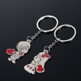 Wholesale Presents Bride - The Bride & Bridegroom Keychains for Car Keys Couples Lovers Christmas Gifts Presents Women Wholesale Handbag Keychain Set Designs for Girls
