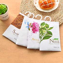 Wholesale Scented Sachets Wholesale - 1Pc 20g perfume hanging wardrobe air fragrant kitchen drawer car perfume air freshener scented sachet