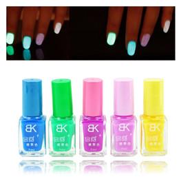 Wholesale Neon Nail Polish Colors - Wholesale- 5Pcs Candy Colors Nail Lacquers Fluorescent Luminous Neon Glow In Dark Varnish Nail Art Polish Enamel PB20