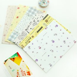 Wholesale Cute Stationery Envelopes - Wholesale-(10 pieces lot) Cute Korea Stationery Greeting Card Envelopes Postcards Housing Bills Letter Love Letter Envelope Bag