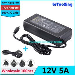 Lcd power ic онлайн-100 шт. с IC чип DC 12 В 5A адаптер питания для 5050 3528 LED жесткой полосы света ЖК-монитор + кабель питания