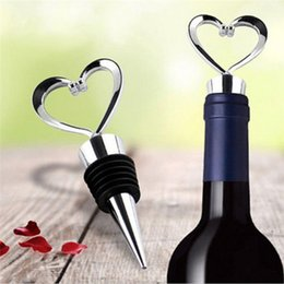 Wholesale Eco Twist - Heart Shaped Wine Stopper Twist 1Pcs Elegant Alloy Champagne Bottle Stopper Valentines Wedding Favors Gifts Bar Accessories Tool
