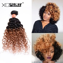 2017 12 24 extensions On Sale Tissages brésilien Cheveux Weave Ombre Hair Extensions 3Bundles Brazillian péruvienne Indian Afro Kinky Curly Hair Virgin 1B 30 Curly 12 24 extensions offres