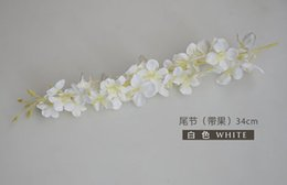Wholesale Plant Baskets - Wisteria pudding wedding arch square rattan simulation flowers silk flowers wall decoration hanging basket can be extension