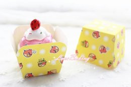 Wholesale Cupcake Shipping Containers - Free shipping cupcake boxes, wholesale personalized cartoon pattern muffin cake cup liners case containers holder decorations