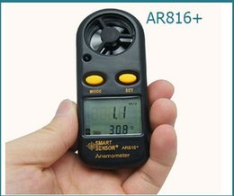 Wholesale Wind Gauge Meter - Wholesale-Smart Wind Speed Gauge Meter Wind Sport Anemometer mini AR-816 AR816+free shipping