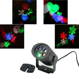 Wholesale Spider Light Bulbs - Wholesale- [DBF]Mini 4W LED Stage Light 4 Pattern Lens Heart Snow Spider Bowknot Bat For Xmas Party KTV DJ Club Disco Bar Effect LED Light