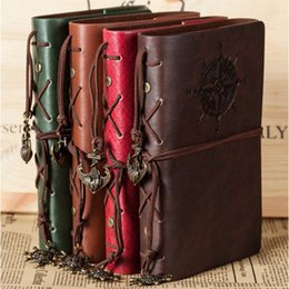 """Wholesale Cover Account - """"Traveler's Handbook"""" Faux Leather Cover Bound Diary Any Year Planner Blank Papers Journal Travel School Notebook Agenda Scheduler 4 Colors"""