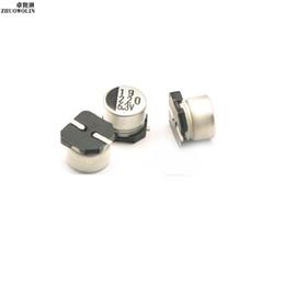 Wholesale Capacitor Sizing - Wholesale- 20PC Lot SMD Aluminum Electrolytic Capacitor 6.3V 220UF SIZE 6.3*5.4MM