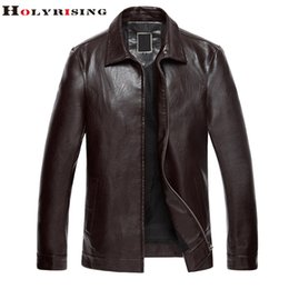 Wholesale Thin Leather Motorcycle Jacket - Fall-Newest Autumn Mens Jackets And Coats Pu Leather Middle-aged Thin Motorcycle Jacket Jaqueta De Couro Masculina