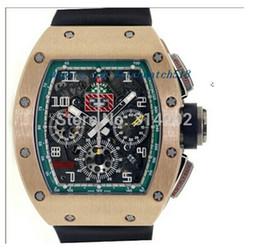 Argentina Relojes de lujo Flyback Cronógrafo Le Mans 18K RG Hombres Relojes deportivos Correa de caucho negro Relojes de pulsera para hombres cheap le mans watch Suministro