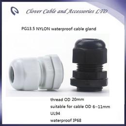 2019 conectores de cable ip68 Venta caliente y envío gratis 100PCS / lot IP68 Cable impermeable Conector PG13.5 Glándula de cable de nylon conectores de cable ip68 baratos