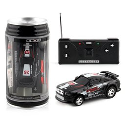 Wholesale Big Cool Cars - Boys Gifts Cool Coke Can Mini RC Car 48pcs 4 color Radio Remote Control Micro Racing Car Toy Vehicle Remoto Electronic Car