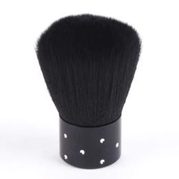 Wholesale Wholesale Nail Brushes - Wholesale- Hot Mini Nail Art Powder Dust Clean Brush Make Up Brush Rhinestones on Handle