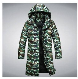 Wholesale Men S Clothing Goose - Wholesale- Men winter camouflage jacket man leisure long section down coat outwear clothes casual-jacket down & parkas S710