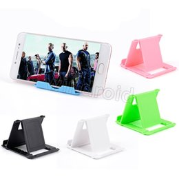 Wholesale Cheap Android Tablets Wholesale - Cheap Universal Adjustable Foldable Cell Phone Tablet Desk Stand Holder Smartphone Mobile Phone Bracket for Android phone iphone tablet pc
