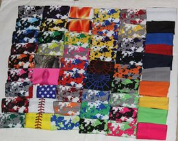Wholesale Wholesale Baseball Armbands - 10pcs compression arm sleeve Baseball Stitches Outdoor Sport Stretch guard Elbow Extended armband
