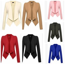 Wholesale ladies winter blazers - Women's Suits Blazers Ladies Business Coats Office OL Jackets Winter Fashion Slim Tops Casual Blouse Formal Vestidos Blazer Tops KKA2734