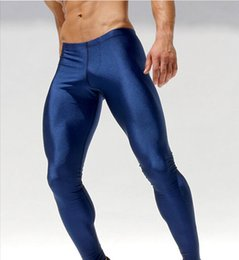 Wholesale Bling Tights - Wholesale-2016 Mens Compression Track Pants High Stretch Mens Joggers Polyester Tights Men Skinny Pants Tracksuit Bottoms Bling