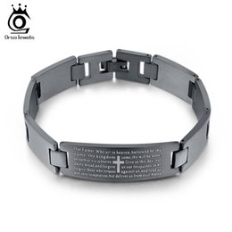 Wholesale Quality Cross Bracelet - Personality Men Bracelet High Quality Stainless Steel Men Bracelets Jewelry Cross Pattern Wristbands Trendy Jewelry GTB24