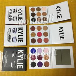 Wholesale Burgundy Metallic - 3 Style Kylie Jenner Eyeshadow Kyshadow Pressed Powder Eye Shadow the Bronze Palette+Burgundy + Purple Palette Cosmetics Kit 9colors