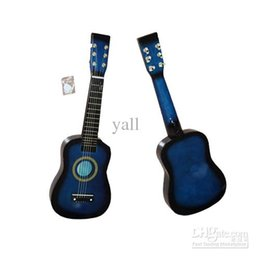 Wholesale Sky Blue Guitar - 23Inch Children's Acoustic Guitar+Pick+Strings Blue New Ship From USA Y1008BU