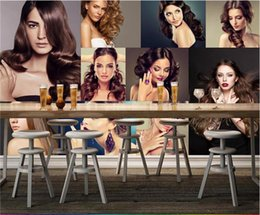 Wholesale Photo Printing Stores - 3d photo wallpaper custom living room mural hairdressing salon store beauty painting sofa KTV background wall non-woven sticker