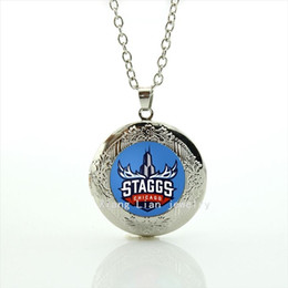 Wholesale Pictures Logos - New fashionable stylish women jewelry locket necklace Chicago staggs logo picture accessory for women NF012