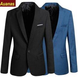 Canada Nouvelle Arrivée Blazer Hommes Un Bouton Costume Vestes Hommes Casual Blazers Solide Mince Pardessus Automne Survêtement Offre