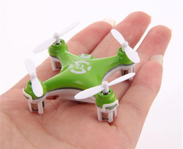 Wholesale Toy Airplane Ufo - New Cheerson CX-10 Mini 2.4G Remote Control Toys 4CH 6Axis RC Drone Quadcopter rc helicopter 4Channel 2.4GHz 6-Axis Gyro UFO Airplane