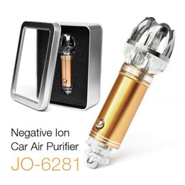 Wholesale Ion Ozone - 2017 New Auto Lonizer Mini Car Air Purifier 12V Oxygen Bar Ozone Cleaner Auto Car Home Freshener Air Pufifiers Dust Smoke 1PCS