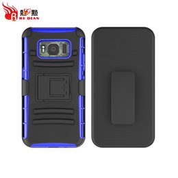 Wholesale Light Stand For Sale - Hot Sale Strong Armor Belt Clip Stand 3IN1 Custom Mobile Phone Cases For Samsung S8 S8Plus S8Active