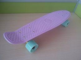 Wholesale Good Quality Fish - 22 inch Good quality Pastel Color Fish Skateboard single rocker longboard mini cruiser Penny Style skate board