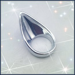 Wholesale Teardrop Penis - Metal Teardrop Cock Ring Cock cage Penis Chastity Device Ejection delay ring sex toy adult product