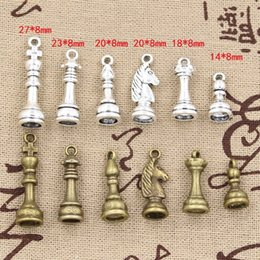 Wholesale Chess Necklace - Wholesale-99Cents Charms chess Hollow Antique charms,Zinc alloy pendant fit,Vintage Tibetan Silver Bronze,DIY bracelet necklace