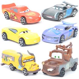 Wholesale Cars Sets - NEW car Action Figures toys Mini cartoon children toys 7cm 3 inches 6 styles set Diecast Model Cars C2924