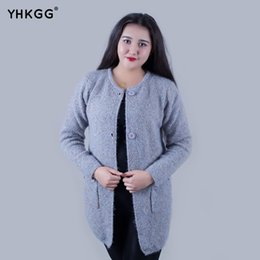Wholesale Women Long Colorful Cardigans - Wholesale- 2017 YHKGG Autumn Winter Sweater Women Colorful Star Daily Female Cashmere Length Long Sleeve Sweater Knitting Cardigan Warm