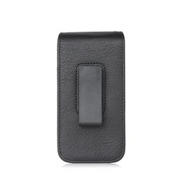 Wholesale Iphone Leather Faux - Universal cell Mobile Phone Faux Leather Case Bag Holster Pouch Card Slot Rotation Belt Clip 4.7, 5.1, 5.5, 6.3 inch (Black Brown)