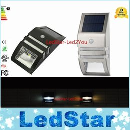 Wholesale Infrared Light Outdoor - Warranty 3 Years Solar Powered Lamp Outdoor Wall Garden Yard Street Activated Infrared sensors Light IP65 Waterproof Free Shipping