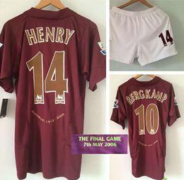 Wholesale Shorts Sport Men Xl - 2006 final Henry Bergkamp retro jersey sports Rugby jerseys