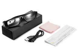 Wholesale Digital Eyeglasses - 2018 Newest HD 1080P Eyeglasses Camera Mini Glasses Camcorder Digital Video Recorder Eyewear Mini DVR Support 32GB TF Card Free Shipping