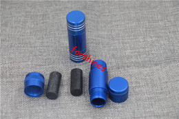 hand vape pipe Coupons - 12pcs lot free shipping USA Australia blue Aluminum metal pollen press herb grinder Tobacco Spice Crusher hand muller for smoking pipe vape