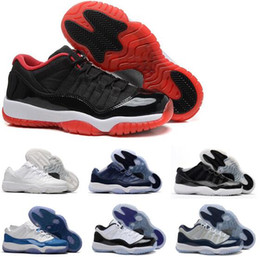 Wholesale Elastic Band Glitter - 2017 air 11 Men Women Basketball Shoes Midnight Navy Low GS Blue Moon University Blue Barons GS HEIRESS white Silver Sports shoes