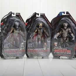 Wholesale Action Figure Predator 12 - 3pcs lot NECA Movie Predator Series 2 Classic Predator PVC Action Figure Collection Toy Doll boys gift approx 18CM 3styles can choose