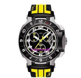 Orologio T048 del quarzo degli uomini liberi di trasporto T048.417.27.057.13 T-Sport T-Race MotoGP quadrante nero giallo CHRONOGRAPH T0484172705713 da