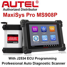 Wholesale Boxing Programme - Original AUTEL MaxiSYS Pro MS908 MS908P with J-2534 Reprogramming box AUTEL ECU Programming Diagnostic System Free Update Online In Stock