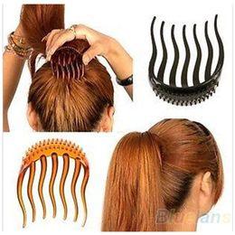 Fabricante de la venda online-Al por mayor-caliente Útil Mujer Chica Volumen Inserta Clip de pelo Bumpits Bouffant Ponytail Hair Comb Style Maker Diadema banda de pelo Accesorios