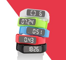 Wholesale Led Screen Wristband - Hot led display bracelet silk screen logo silicone wristband smart phone Bluetooth bracelet 3D pedometer sleep monitoring adult bracelet